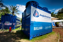 Anglo American's Platinum business installed a 150 Kilowatt hydrogen platinum based fuel cell at the COP 17 conference