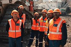 Employees at Isibonelo colliery