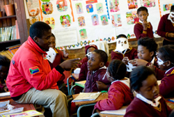 Pupils at Lekang School in Soweto